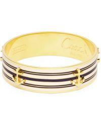 COACH - Three Quarter Inch Anchor Stripe Bangle - Lyst