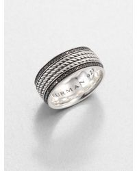 David Yurman Maritime Rope Band Black Diamond Ring - Lyst
