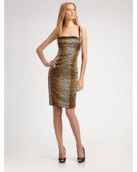 D&G Stretchsilk Bustier Dress - Lyst