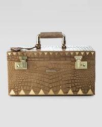Eddie Borgo - Crocodile Embossed Jewellery Box Brown - Lyst