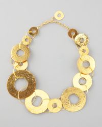 Herve Van Der Straeten   Gold Disc Necklace   Lyst