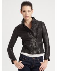 Improvd | Cropped Leather Jacket | Lyst