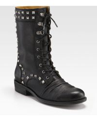 Juicy Couture Chara Laceup Boots - Lyst