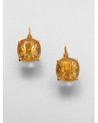 Kate Spade Faceted Square Drop Earrings - Lyst