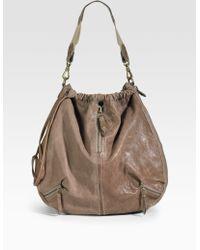 Olivia Harris Convertible Leather Shoulder Bag - Lyst