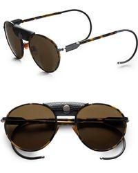 Proenza Schouler Metal Aviator Sunglasses black - Lyst