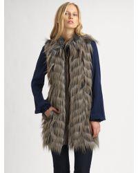 Rachel Zoe Marianne Faux Fur Vest - Lyst