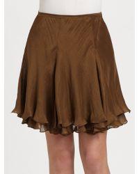 Ralph Lauren Blue Label - Silk Marina Skirt - Lyst