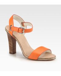 Ralph Lauren Collection Laurissa Leather Sandals - Lyst
