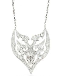 Stone - 18kt White Gold Sympathy For The Devil Necklace - Lyst