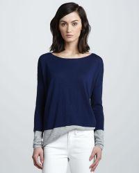Vince Colorblock Slub Sweater - Lyst