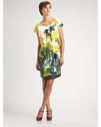 Weekend by Maxmara Watercolor Floralprint Shift Dress - Lyst