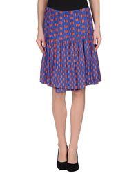 Diane von Furstenberg Knee Length Skirt - Lyst