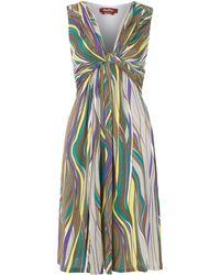 Max Mara Studio Vacillo Striped Shift Dress with Knot Front - Lyst
