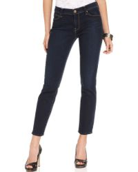 7 For All Mankind Skinny Cropped Jean - Lyst