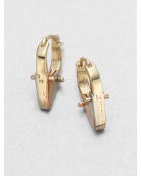 A.L.C. - Tricolor Pointed Huggie Hoop Earrings - Lyst