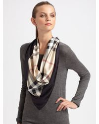 Burberry Square Silk Scarf - Lyst