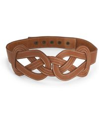 French Connection - Braided Leather Belt - Lyst