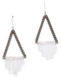 Gemma Redux - Triangle Drop Earrings - Lyst