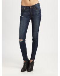 J Brand 811 Midrise Distressed Skinny Jeans - Lyst