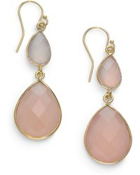 Nunu - Double Teardrop Earringspink - Lyst