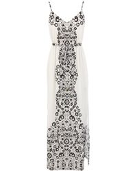 Oasis Woodblock Maxi Dress - Lyst