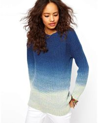 ASOS Collection Dip Dye Jumper blue - Lyst