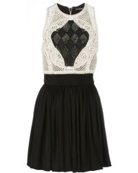 Balmain Crochet Knit Dress - Lyst