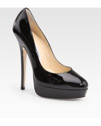Jimmy Choo Eros Patent Leather Pumps - Lyst