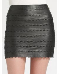 Leifsdottir - Leather Mini Skirt - Lyst