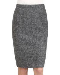 Max Mara Tweed Skirt - Lyst