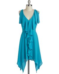 ModCloth Aqua Are The Chances Dress - Lyst