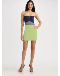 Pleasure Doing Business Strapless Colorblock Dress - Lyst