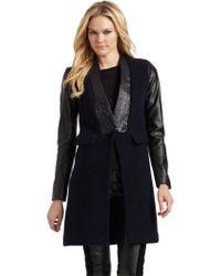 Sachin & Babi Noah Leather Sleeve Jacket - Lyst