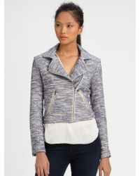 Sachin & Babi Conroy Melange Moto Jacket - Lyst