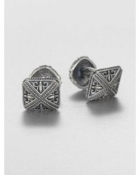 Scott Kay Sterling Silver Sparta Engraved Cuff Links - Lyst