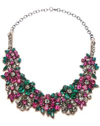 Valentino Floral Crystal Necklace - Lyst