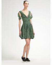 Z Spoke by Zac Posen Silk Polka Dot Flared Dress - Lyst