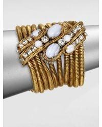 Aerin Erickson Beamon - Blue Agate Multichain Bracelet - Lyst