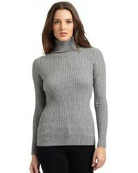 Autumn Cashmere Cashmere Ribbed Turtleneck Sweater - Lyst