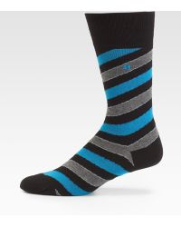 BOSS Orange - Diagonal Stripe Socks - Lyst