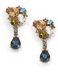 Judith Leiber - Elise Teardrop Cluster Earrings - Lyst