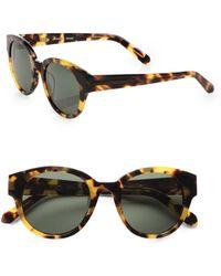 Karen Walker Anywhere Round Sunglasses/Tortoise - Lyst