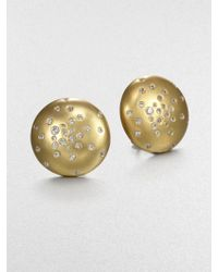 Mija - White Sapphire Constellation Button Earrings - Lyst