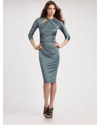Roberto Cavalli Asymmetrical Snake Dress - Lyst