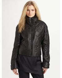 Donna Karan New York Quilted Leather Jacket - Lyst