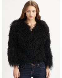 MICHAEL Michael Kors Mongolian Lamb Fur Coat - Lyst