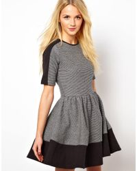 ASOS Collection | Sweat Skater Dress in Colour-Block | Lyst