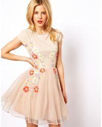 ASOS Collection | Embellished Summer Floral Skater Dress | Lyst