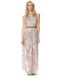 French Connection Eden Of Zola Silk Maxi Dress - Lyst